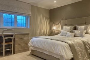 Beautiful fabric choice makes beautiful blinds and bedding